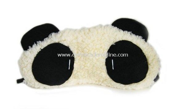 Wholesale Plush panda eye cover/eye shade