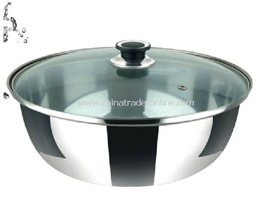Stainless Steel Mixing Bowl With Glass Lid