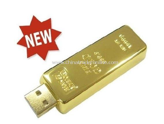 Hot Selling OEM Promotional Gold Bar USB Flash Drive