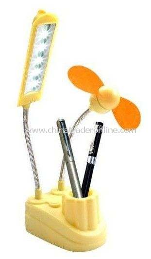 christmas Laptop USB Fan USB light with fan fans mini usb lamp with fan Garantee+ LED Light with Pen Holder