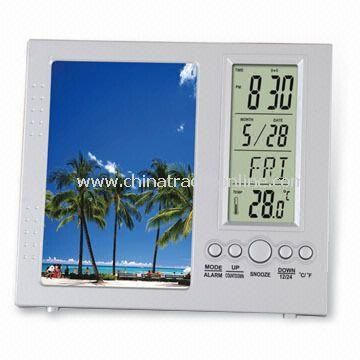 Desktop Calendar with Photo Frame and Alarm Clock Function