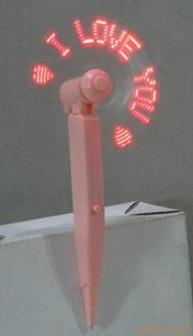 LED flash the word fans pens stationery promotional light LED mini fan flashing gifts