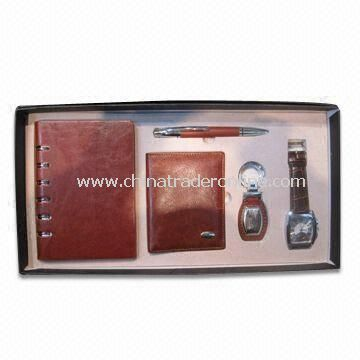 Notebook Set, Includes Pen, Wallet, Watch and Keychain, Suitable for Meeting Situations