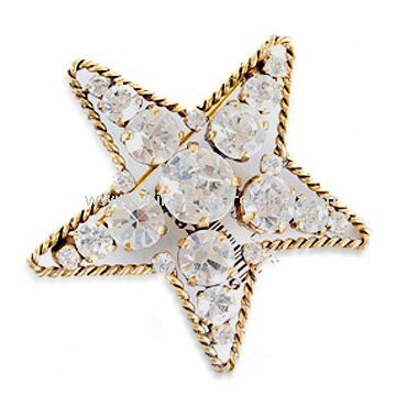 Rhinestone/Alloy/Ladies Brooch in Fashionable Design, Customized Ideas are Accepted