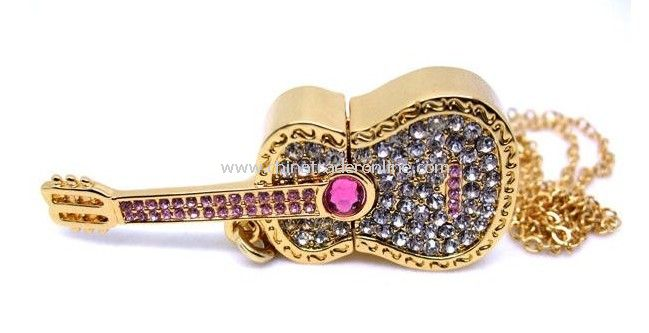 4GB Luxury crystal jewelry USB flash drive