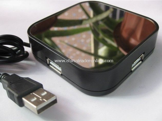 Novelty New Mirror 4 ports Computer Notbook Laptop USB Hub Coolest Gadgets 11pcs/lot