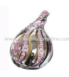 Unique 8GB Diamond Peach Jewelry USB Flash Drive