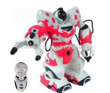 Wholesale RC robot RC intelligent Robot multi function RC toy,most popular toys Pink color 4pcs/lot fast delivery