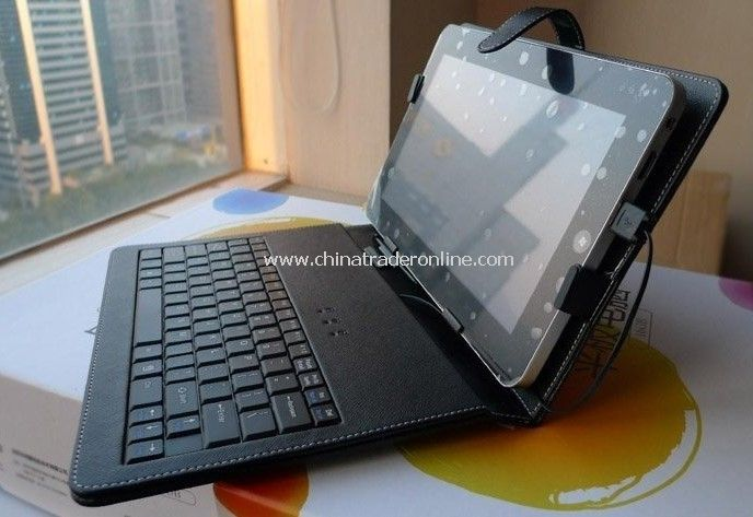 10 tablet pc Stand keyboard,leather case with keyboard from China