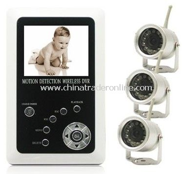 2.5inch Screen Baby Monitor, 2.4 GHz 4-channel Wireless MP4 Spy Camera Baby Monitor