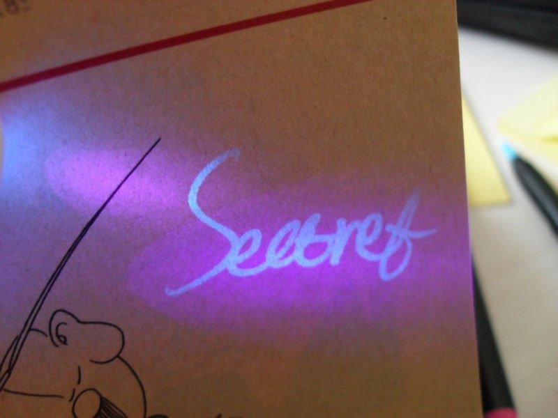 Как сделать невидимые чернила видимые в ультрафиолете