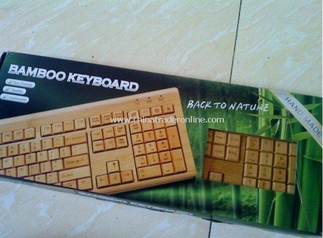 Bamboo Keyboard in Natural Color Bamboo keyboard&mouse USB 2.0 keyboard