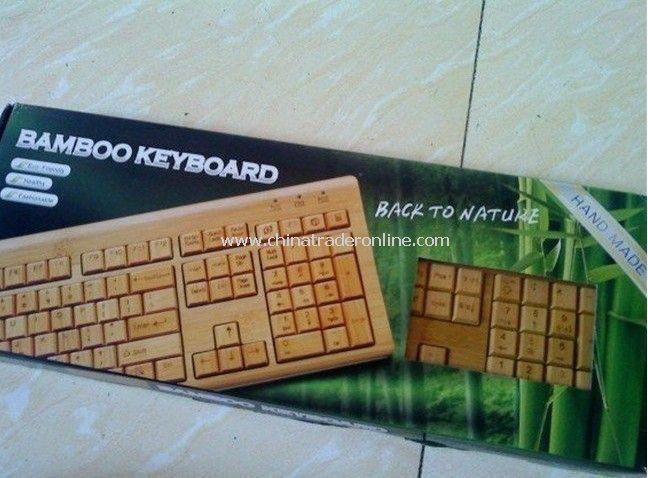 Bamboo Keyboard in Natural Color Bamboo keyboard&mouse USB 2.0 keyboard
