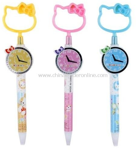 Hello Kitty Watch Pattern Shaped Ball-Point Pen 005019 10pcs/lot with