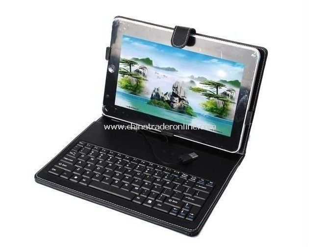 Leather Case + Keyboard for 10-7 Android Tablet PC from China