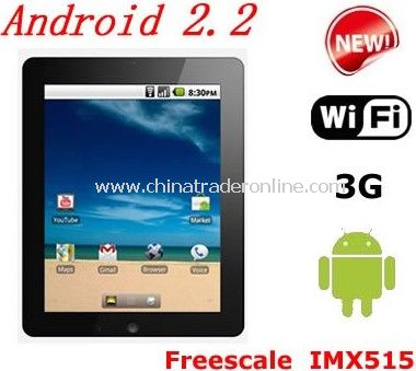 New arrival Freescale IMX515 Android 2.2 WIFI G-sensor 3G Android Tablet