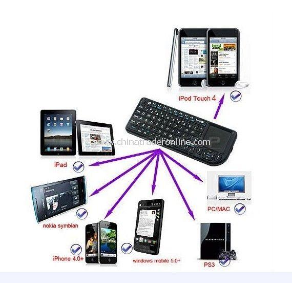 Wireless Touch Panel MiNi Keyboard