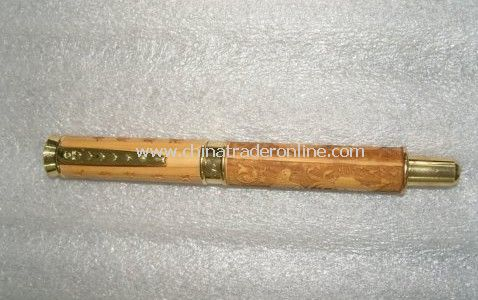 wooden pen box+wooden ball pen like smoke rose wood for gift set,can make your Logo