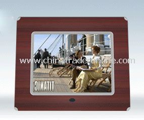 10.4 Digital Photo Wood Frame