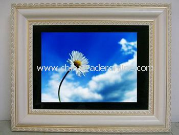10.4 Elegant Retro Beige Digital Photo Wood Frame