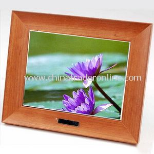 10.4 Table Digital Phto Frame Wood