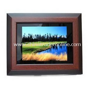 Classic 10.4 Digital Photo Frame Wood