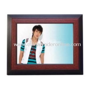 Classic 15 Digital Photo Frame Wood Frame