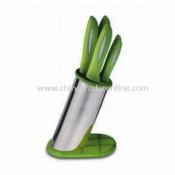 Kitchen Knife Set, Includes Chef, Slicer and Bread Knives