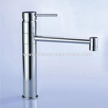 Kitchen Tap with Automatic Brass Drainer, Stainless Steel Hose and Installation Fittings