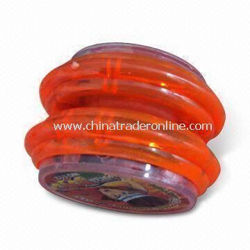 Plastic Yo-yo, Available in Red Color, Ideal for Fun and Promotions