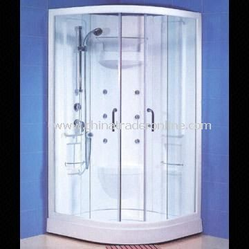 Shower Enclosure/Steam House Composed of Shower Head, Shower Tray, Screen Door and Sliding Bar