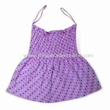 100% Cotton Baby Dress, Soft and Thin, Machine Washable, Various Colors are Available