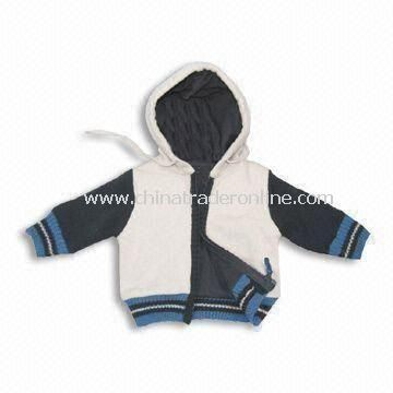 Babies Jacket with 100% Polyester Padding, Customized Designs Accepted