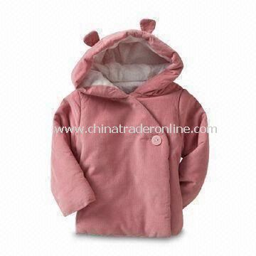 Babies Jacket with Single Button at Asymmetrical Front, Available in Various Colors