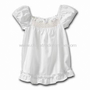 Babies T-shirt/Tees/Shirt/Top, Made of 100% Cotton Material, Available in Plain White Color