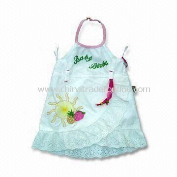 Baby Dress, Made Of 100% Cotton, Various Colors are Available