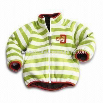Baby Jacket, Made of 65% Polyester and 35% Cotton, Customized Colors are Accepted