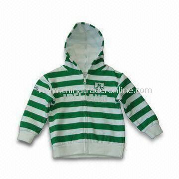 Baby Jacket with Hood, Made of 65% Polyester and 35% Cotton, Come in Various Sizes