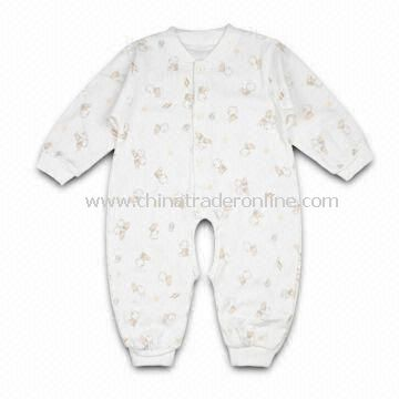Baby Romper, Customized Designs, Fabrics, Colors, and Logos are Welcome, Made of 100% Cotton from China