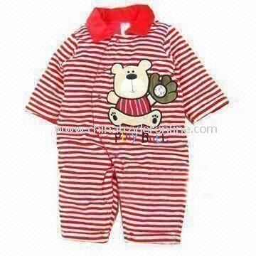 Baby Romper, Made of 100% Cotton, Customized Designs, Fabrics, and Logos are Welcome