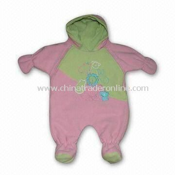 Baby Romper, Made of 100% Cotton, Customized Material, Style, and Color are Welcome