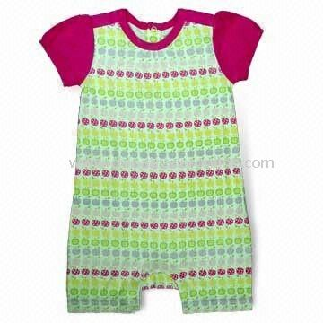 Baby Romper, Soft and Thin, Machine Washable, Various Colors and Designs are Available