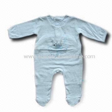 Baby Romper in White, Made of 100% Certified Organic Cotton, Safe to Use