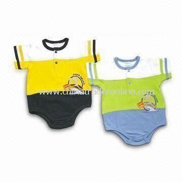Baby Rompers, Customized Materials and Styles are Accepted, Made of 100% Cotton