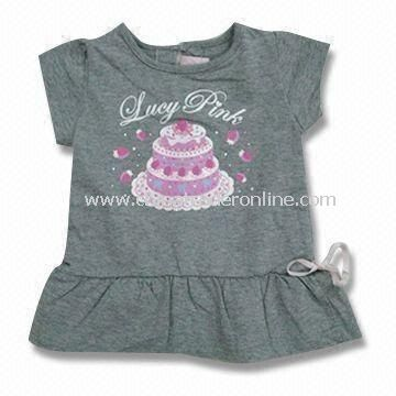 Baby Short-sleeved Dress, Suitable for Girl, Made of Cotton, Measures 76 to 104cm