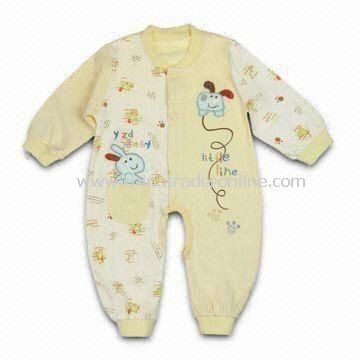 Comfortable Baby Romper, Made of 100% Cotton, Customized Designs, Fabrics and Logos are Welcome from China