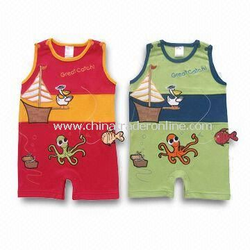 Cotton Baby Rompers in Various Colors, Suitable for 0 to 36 Months