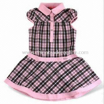 Girls Skirt with Panty Inside, Suitable for Infant, Made of 200g Cotton Elastane Jersey