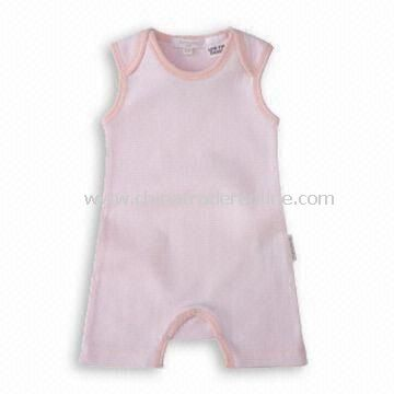 Plain Baby Romper in Pink Color, Suitable for 1 to 2 Years Old