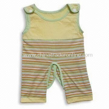 Soft Baby Romper, Available in Various Colors, Made of 100% Cotton from China